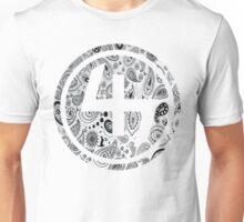 47 WHITE GANGSTER BANDANA PATTERN CIRCLE Unisex T-Shirt