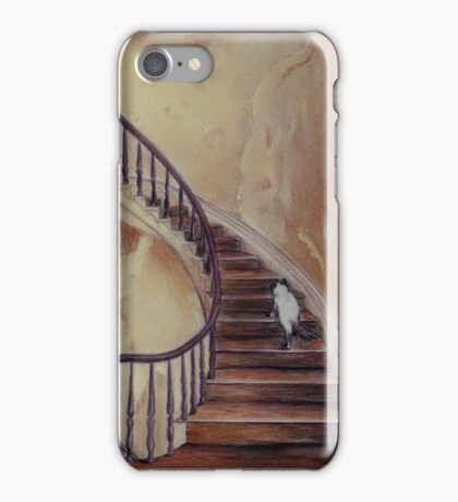Cat on the Stairs iPhone Case/Skin