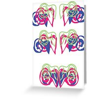 Psychedelic Graffiti Ram - progression Greeting Card