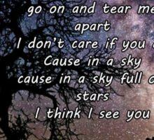A sky full of stars Sticker