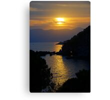Fiascherino Sunset Canvas Print