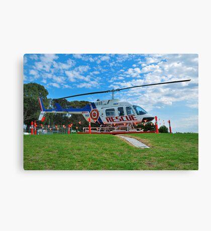 Rescue Chopper Canvas Print