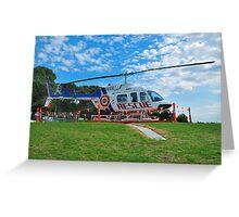 Rescue Chopper Greeting Card