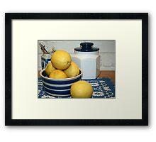 Lemons & Blue and White China Framed Print