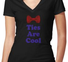 Who Says - Bow Ties Are Cool - Doctor Orders T-Shirt Sticker Women's Fitted V-Neck T-Shirt