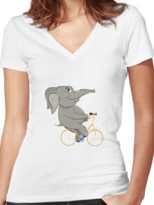 Moonlight Ride Women's Fitted V-Neck T-Shirt