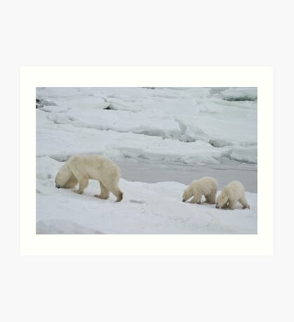 Sniff, Sniff. Just like Mom. Art Print