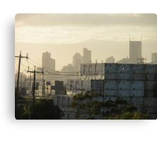 industrial overlays commercial - Melbourne Canvas Print