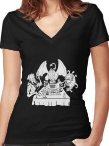 Boardrooms & Bosses Women's Fitted V-Neck T-Shirt