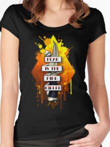 Fear is the Mind Killer.  Women's Fitted Scoop T-Shirt