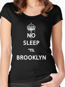 No Sleep 'till Brooklyn Women's Fitted Scoop T-Shirt