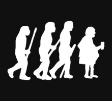 evolution of modern man on dark Kids Clothes