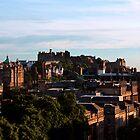 Edinburgh Castle and skyline by ljm000