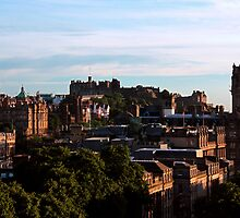 Edinburgh Castle and skyline by Linda More