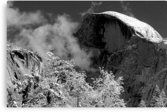 Half Dome in Snow by Michele Binder