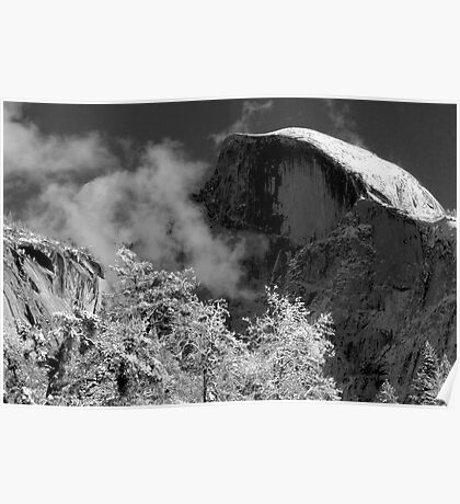 Half Dome in Snow Poster
