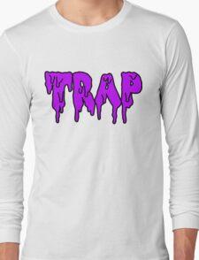 trap - purple Long Sleeve T-Shirt