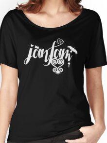 JamFam - Fans & Friends Logo 2015 - White Women's Relaxed Fit T-Shirt