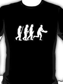 evolution of rugby on dark T-Shirt