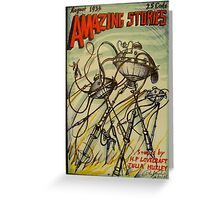 Amazing Stories ( August 1933 ) Greeting Card