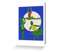 The Three Sister's Harvest Dance Greeting Card
