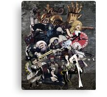 No More Heroes Boss Enemies | GRAY Canvas Print