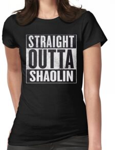 """straight outta Shaolin """"Staten Island"""" Womens Fitted T-Shirt"""