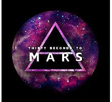 30 Seconds to Mars: Galaxy Design Photographic Print
