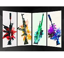 CS:GO colorful weapons (B) vol.2 HQ Photographic Print