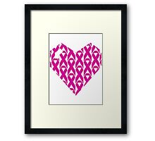 Breast Cancer Love n Support Framed Print
