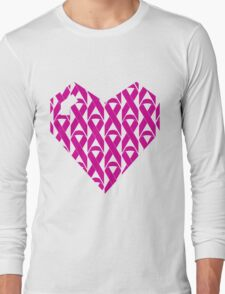 Breast Cancer Love n Support Long Sleeve T-Shirt