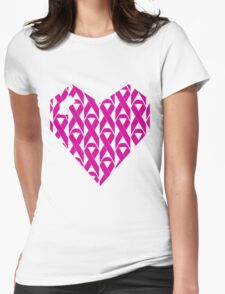 Breast Cancer Love n Support Womens Fitted T-Shirt