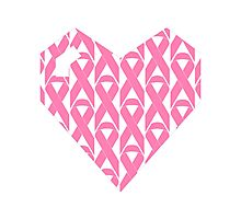Breast Cancer Love n Support Photographic Print