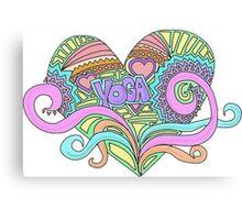 LOVE YOGA Canvas Print