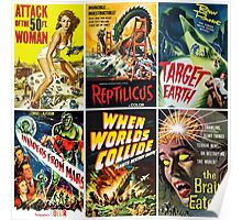 Vintage Sci-Fi Movie Poster Art Collection #1 Poster