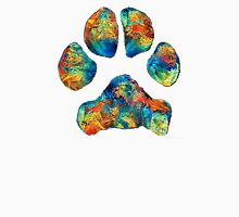 Colorful Dog Paw Print by Sharon Cummings T-Shirt