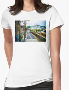 Road with High Saturation Womens Fitted T-Shirt