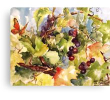 Monarch in the Vineyard Canvas Print