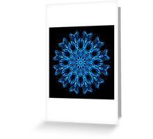 Blue Ether Kaleidoscope Greeting Card