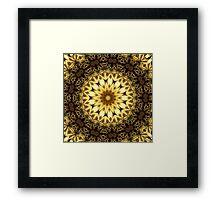 Golden Vortex Star Ring Framed Print