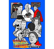 back to the future 30th anniversary tribute bttf Photographic Print
