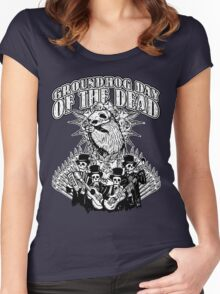 Groundhog Day of the Dead Women's Fitted Scoop T-Shirt