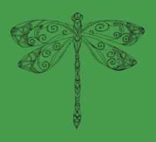 patterned dragonfly ink drawing Kids Clothes
