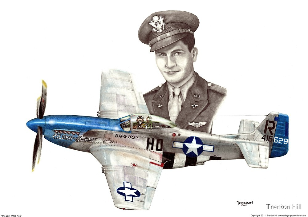 """""""The Last WWII Ace - Major Alden Rigby"""" by Trenton Hill"""