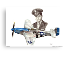 """""""The Last WWII Ace - Major Alden Rigby"""" Canvas Print"""