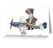 """The Last WWII Ace - Major Alden Rigby"" Greeting Card"