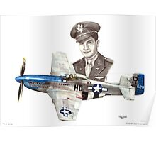 """The Last WWII Ace - Major Alden Rigby"" Poster"