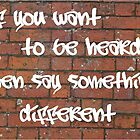 Say Something Different by Sharon O'Brien Huey