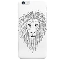 patterned lion ink drawing iPhone Case/Skin