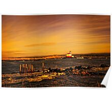Coquille River Lighthouse - Sunset Poster